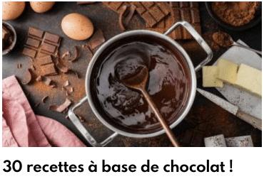 30 recettes à base de chocolat