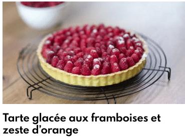 tarte glacée framboises