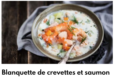 camarones salmón blanquette