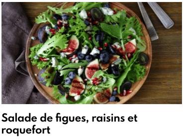 ensalada de higos con uvas roquefort