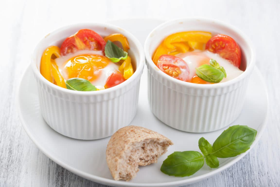 oeuf cocotte tomate
