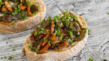 crostini d'aubergine