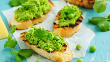 tartines petits pois menthe