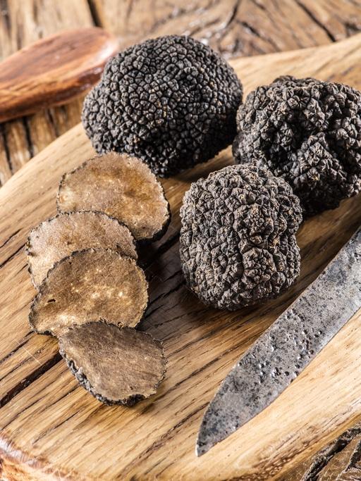 pâtes à la truffe noir