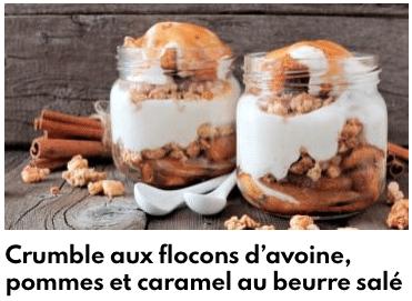 crumble pommes caramel