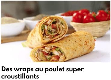 wraps poulet croustillants
