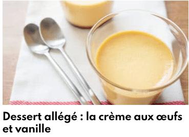 crème allégée aux oeufs