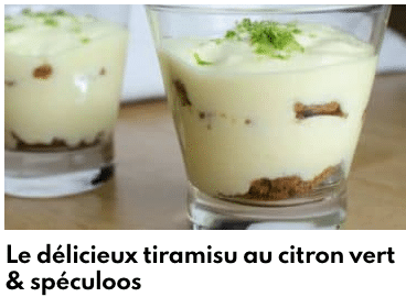 tiramisu au citron vert