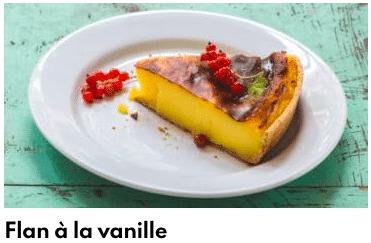 flan à la vanille