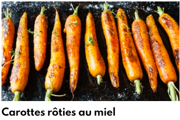carottes rôties au miel
