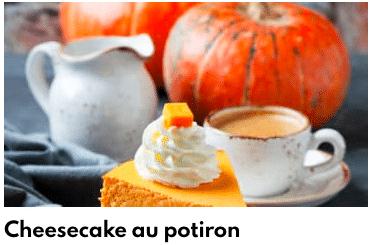cheesecake potiron