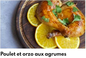 poulet orzo agrumes
