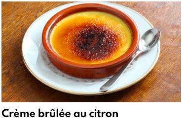 crème brulée citron