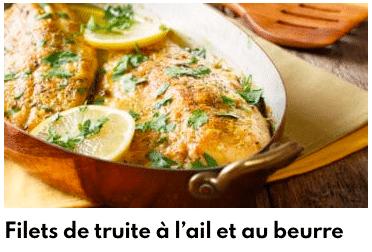 filet truite ail beurre