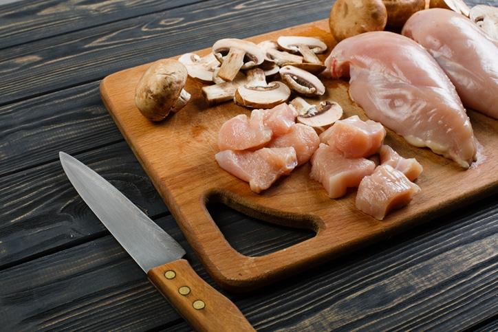 gratin poulet champignons