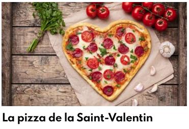 pizza saint valentin