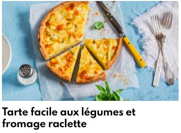 tarte légumes fromage raclette