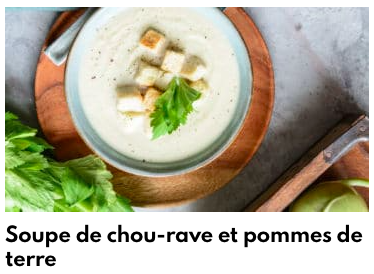 soupe chou rave pommes de terre