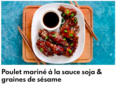 poulet mariné