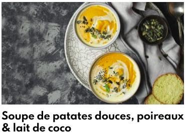 soupe de patate douce lait de coco