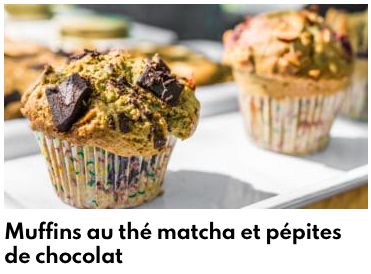 muffins thé matcha