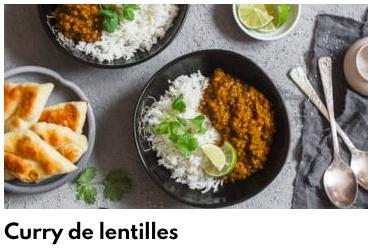 curry lentilles
