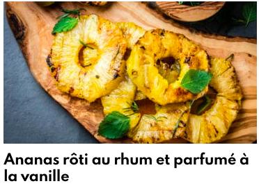 ananas beurre vanille
