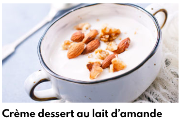 crème dessert au lait d'amande