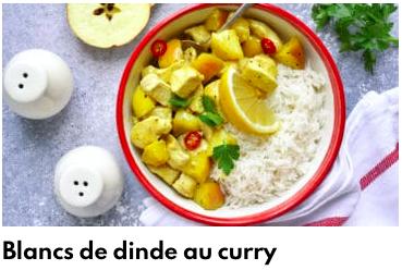 blancs de dinde au curry