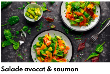 salade avocat & saumon