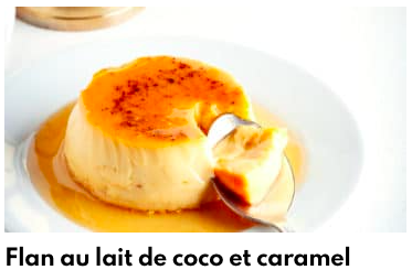 flan lait de coco caramel