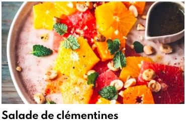 salade de clémentines