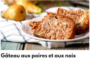 gâteau noix et poires