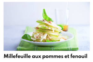 millefeuille pomme fenouil