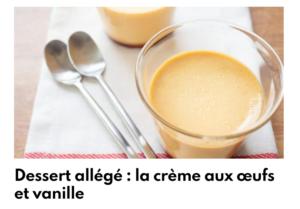 creme allégée aux oeufs et vanille