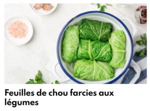 Chou farci aux légumes