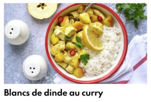 blanc dinde au curry
