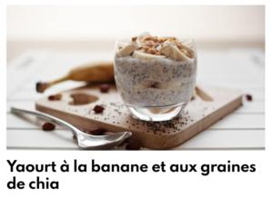 Yaourt banane et graines de chia