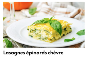 Lasagne épinards chèvre