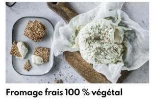 Fromage frais 100% végétal