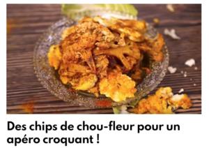 Chips de chou-fleur