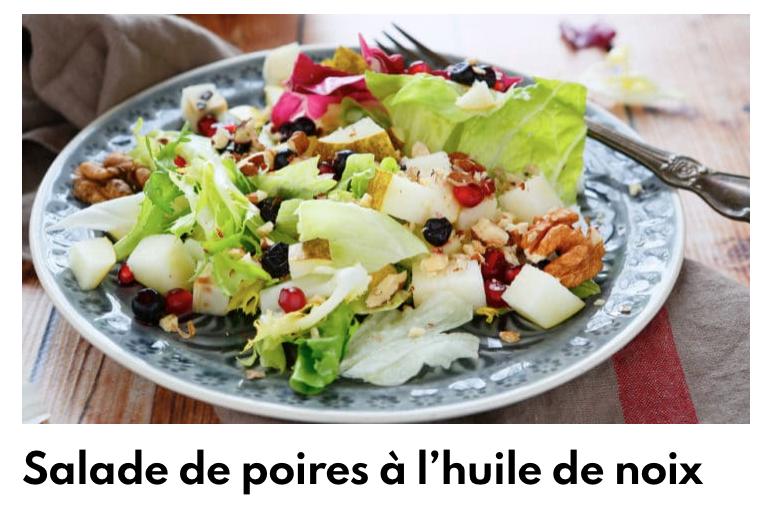 Salade de poire à l'huile de noix