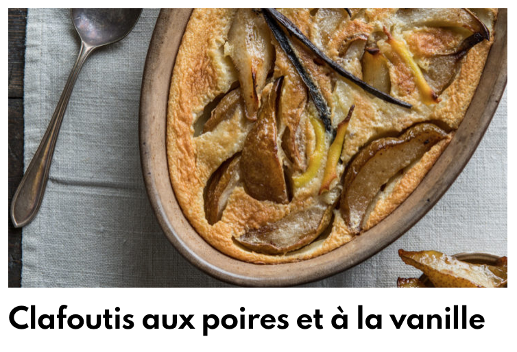 Clafoutis poire vanille