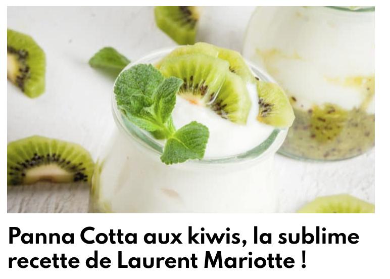 Pana Cotta aux kiwis