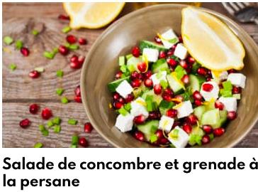 salade concombre et grenade