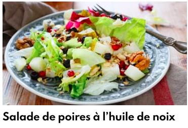 salade de poires à l'huile de noix