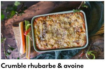 crumble rhubarbe et avoine