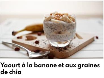 yaourt graines de chia bananes