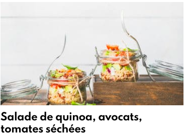 salade quinoa avocat tomates séchées