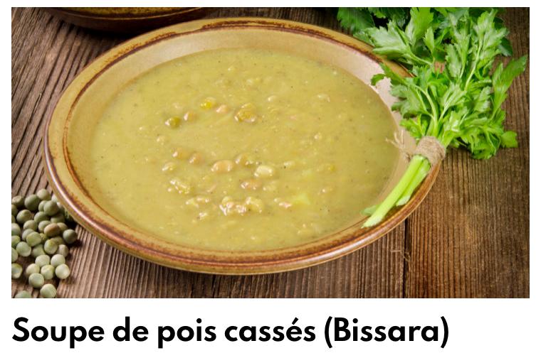 Soupe de pois cassé (bissara)